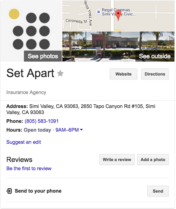 example of a google my business profile