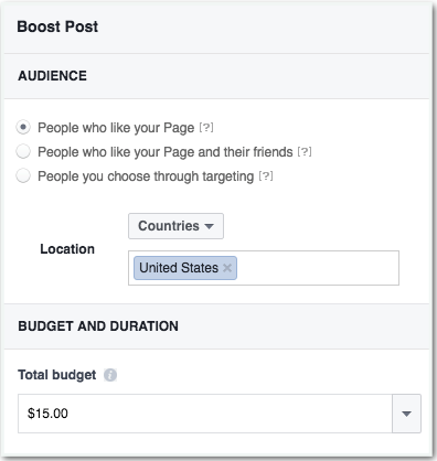 Boosting your post