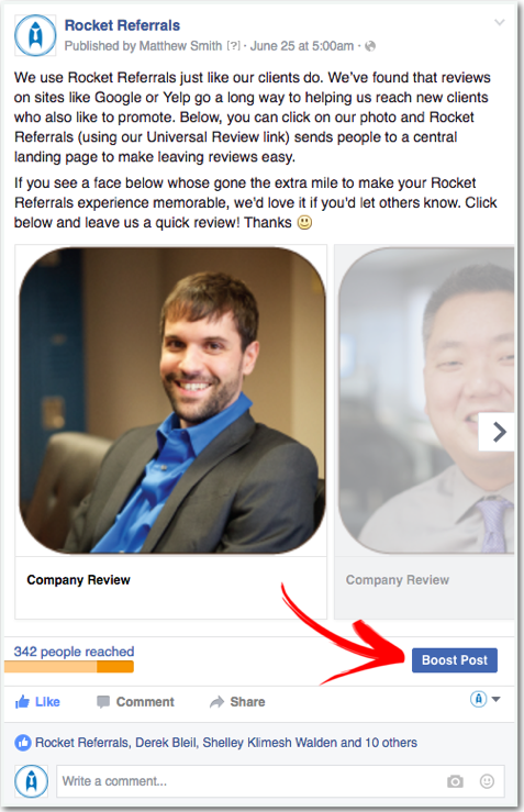 how to get reviews on facebook