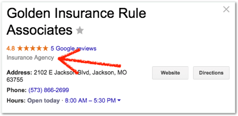 Insurance agency google review