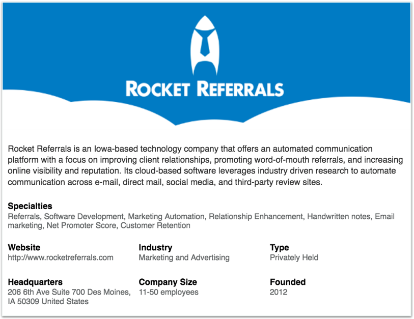 Rocket Referrals LinkedIn