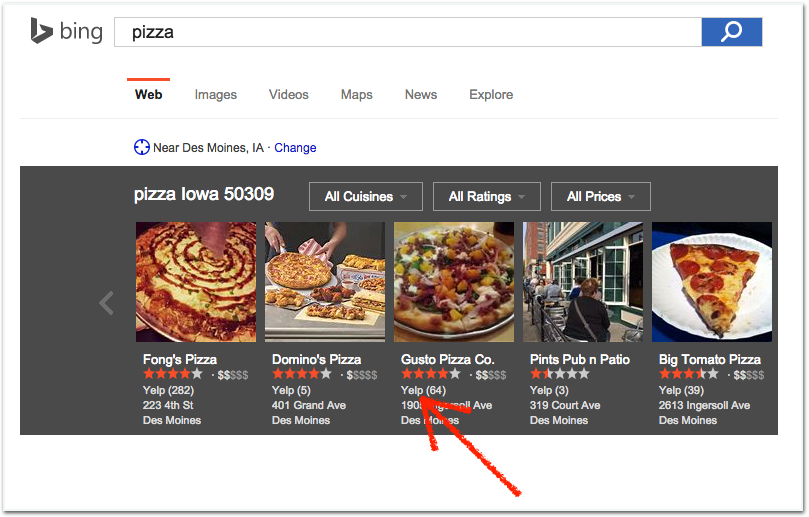 bing places for local businesses