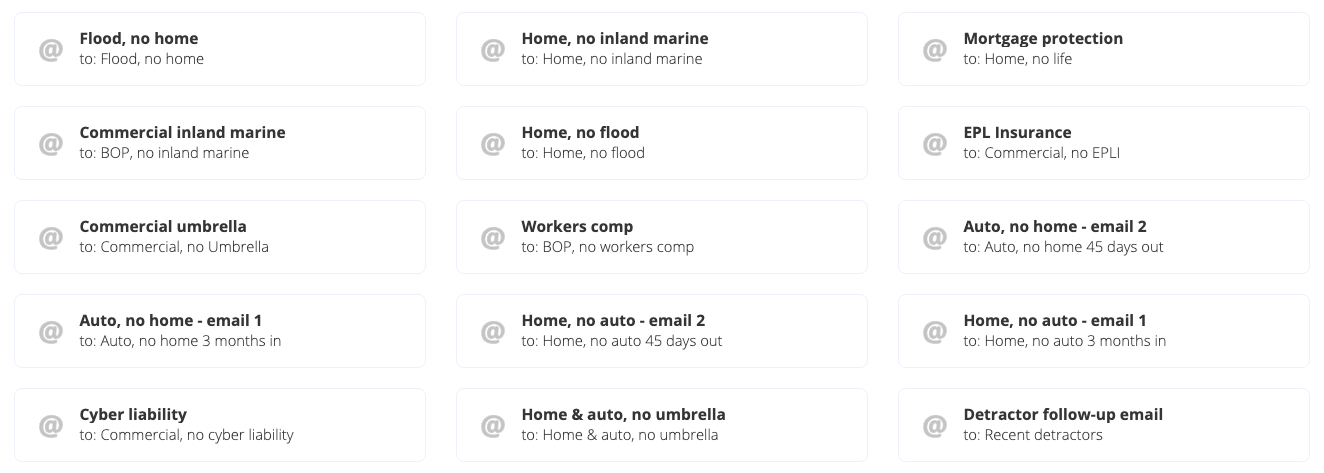 Insurance cross-sell email templates from Rocket Referrals